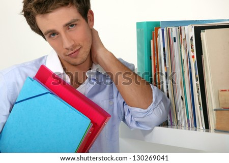Lot of studying - stock photo