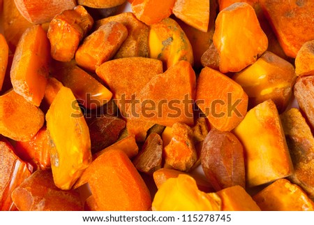Lot of Vintage genuine raw Baltic amber stones - stock photo