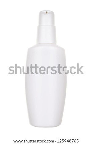 Lotion bottle isolated on white - stock photo