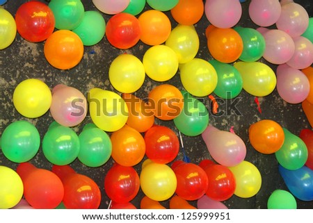 Lots of balloons - stock photo