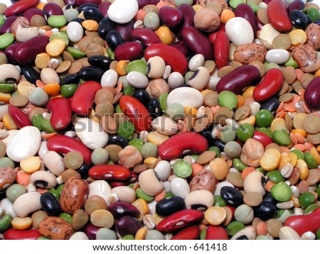 Lots of Beans - stock photo