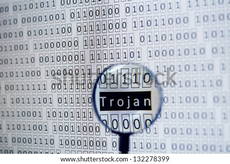 lots of bits from a screen with an attack indicating text inside - stock photo