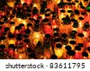 Lots of candles for All Souls Day - stock photo