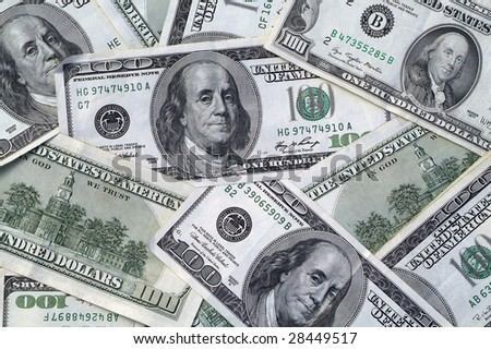 Lots of cash- background pattern of one hundred dollar bills