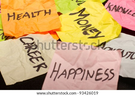 Lots of choices and decisions to make about priorities - stock photo