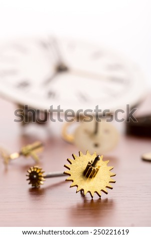 Lots of clock details - stock photo