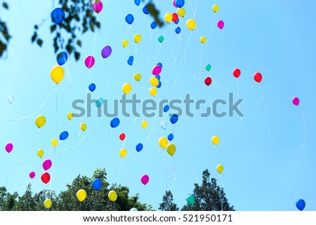 Lots of colorful balloons were released in the sky at the annual celebration