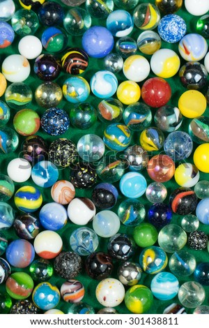 Lots of Colorful Marble Balls background - stock photo