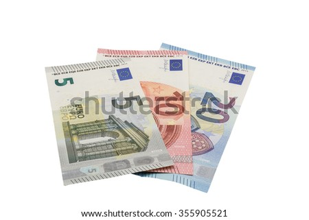 lots of euro banknotes free cutted
