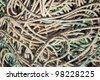 Lots of fishing ropes close up. - stock photo