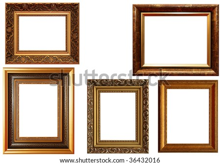lots of frames isolated on white background