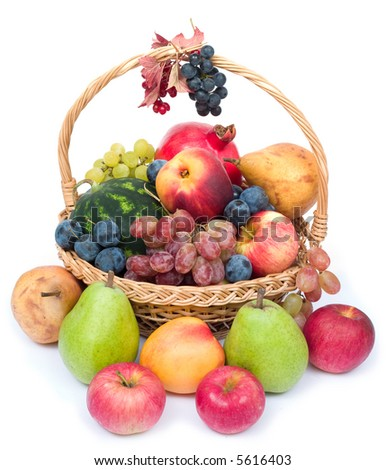 lots of fresh and ripe fruits in the basket