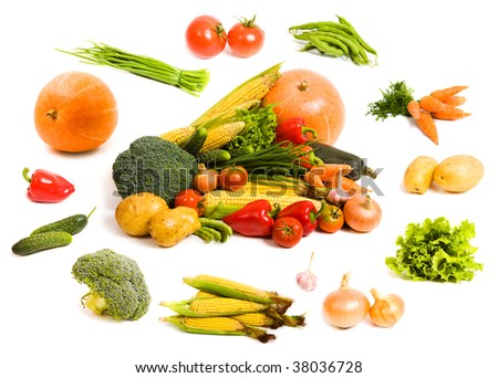 lots of fresh and ripe vegetables