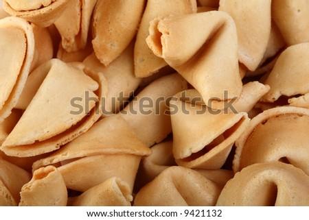 Lots of furtune cookies - stock photo