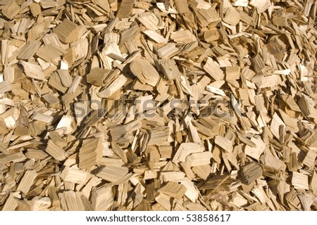 Lots of large wood chips.