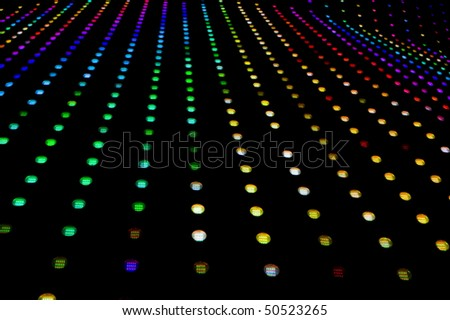 lots of led lights with shallow depth of field - stock photo