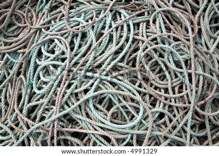 Lots of old fishing boat rope.