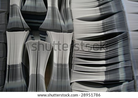 Lots of printed brochures - Others in my gallery - stock photo