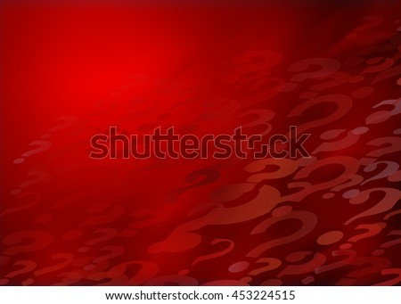Lots of Questions...Red Abstract Illustrates the never ending sea of questions in every aspect of life,medicine,science, learning, education, testing, quizzing, creativity and imagination  - stock photo