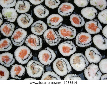 lots of rolls - stock photo