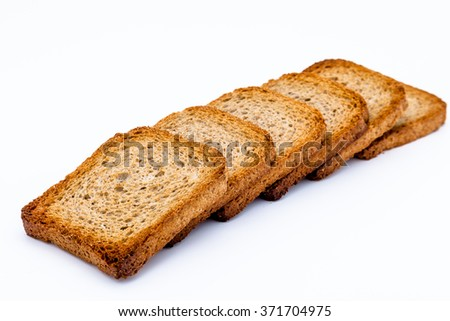 Lots of slices of toast - stock photo
