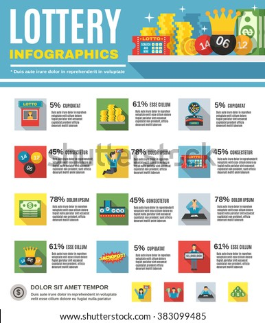 Lottery Infographics Set - stock photo