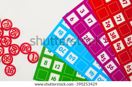 Lotto Bingo Tombala Gambling Game Entertainment                    - stock photo