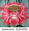 Lotus Flower, at Buddhist Temple - stock photo