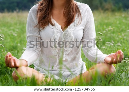 Lotus pose - stock photo