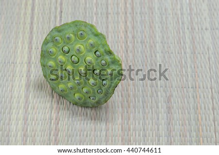 Lotus seeds on the mat