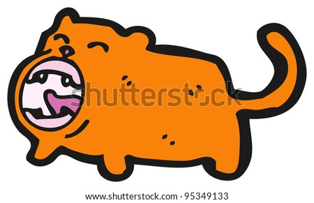 loud orange cat cartoon (raster version)