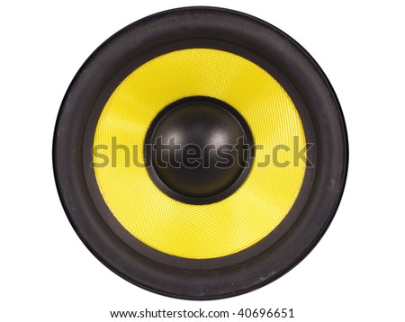 loud speaker on a white background - stock photo