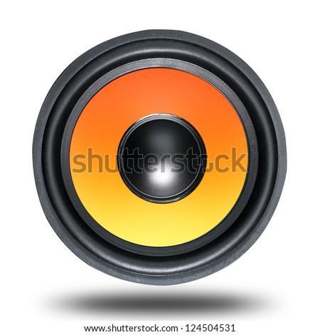 Loud Speaker Woofer - stock photo