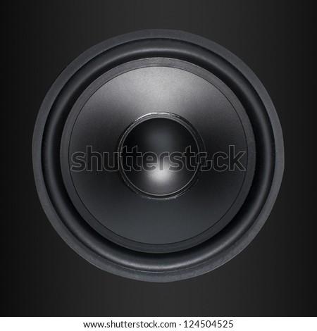 Loud Speakers on black - stock photo