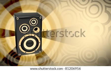Loudspeaker - stock photo