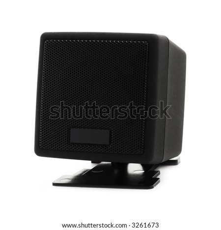 loudspeaker on a white background with clipping path for designers