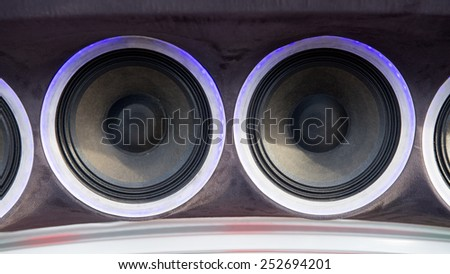 loudspeaker on car - stock photo