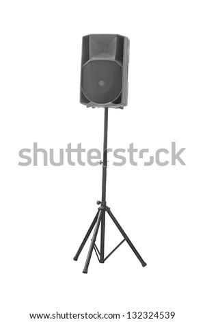 loudspeaker under the white background - stock photo