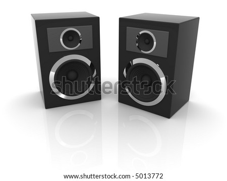 Loudspeakers with equalizer. 3d