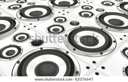 Loudspekaer array - stock photo