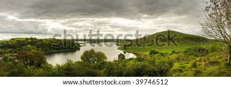 Lough Gur Panoramic - stock photo