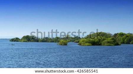 Lough Leane in Ireland (Kerry country) - stock photo