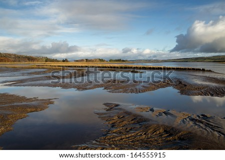 Lough Swilly in November, Co. Donegal, Ireland - stock photo