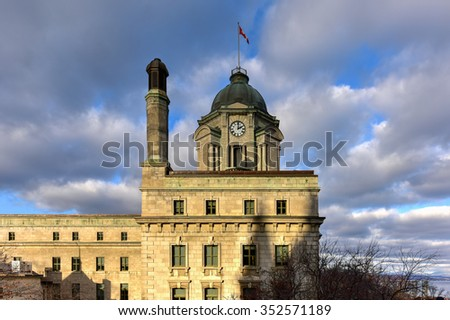 Louis St Laurent Post Office in Quebec City, Canada. - stock photo