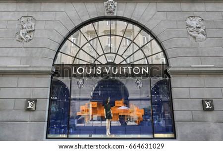 Louis Vuitton store - Ukraine, Kiev - June 17, 2017