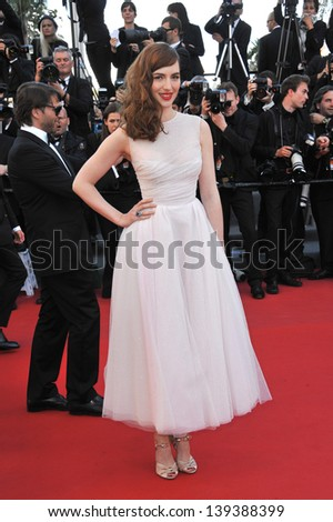 "Louise Bourgoin at the gala premiere of ""The Past"" (Le Pass) in competition at the 66th Festival de Cannes. May 17, 2013  Cannes, France"