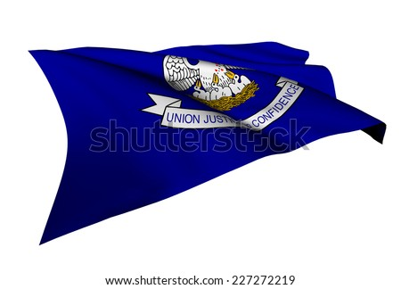 Louisiana flag - USA state flags collection no_4  - stock photo