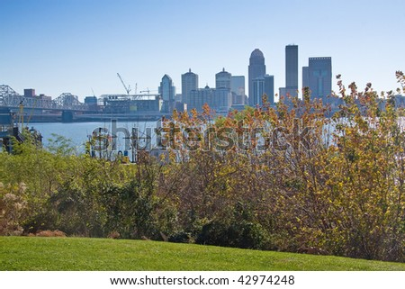 Louisville, Kentucky skyline. - stock photo