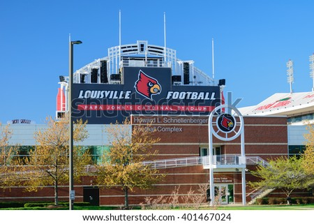 Louisville, Kentucky, USA - April 3, 2016. Papa John's Cardinal Stadium home of Louisville Cardinal Football