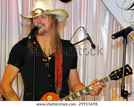 LOUISVILLE, KY - MAY 1: Kid Rock performs at the 2009 Barnstable-Brown Gala in Louisville on May 1, 2009.  The annual Kentucky Derby eve gala benefits diabetes research. - stock photo